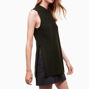 Wilfred Aritzia | Palmier Moss Sweater Knit Tunic
